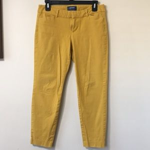 Pixie cut yellow dress pants
